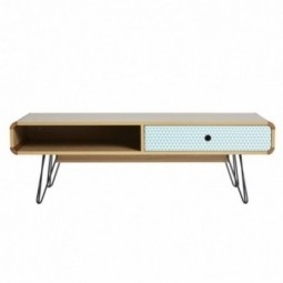 Mueble TV 2C Gris Antracita/Roble